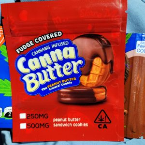 Canna Butter Peanut Butter Fudge Covered Cookies