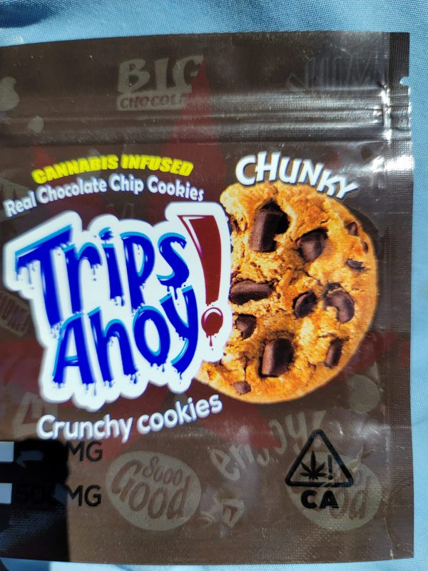 Cannabis infused Real Chocolate Chip Cookies 500mg THC per bag.